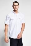 20Y-1154 Men Outdoor Short Sleeve Shirt White
