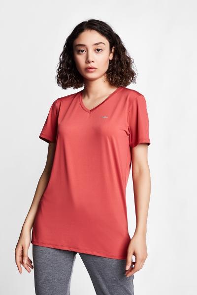 21S-2208-21B Women T-Shirt Brown