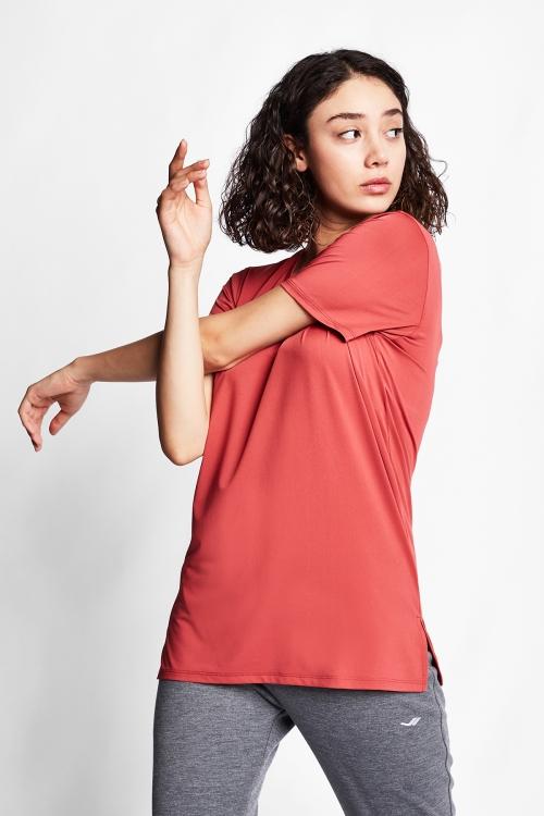 Tarçın Renk Kadın T-Shirt 21S-2208-21B