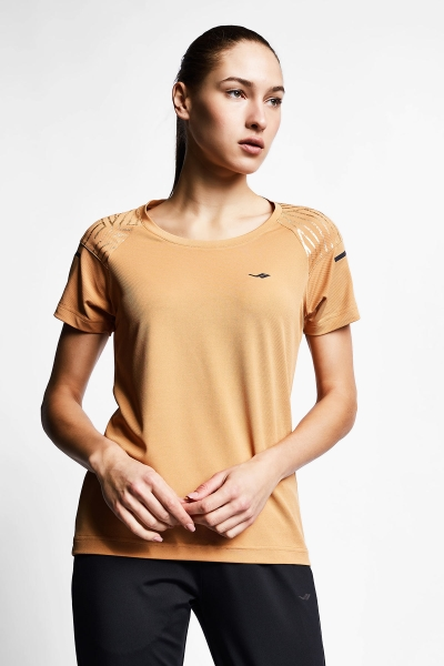 Karamel Kadın Kısa Kollu T-Shirt 21B-2012