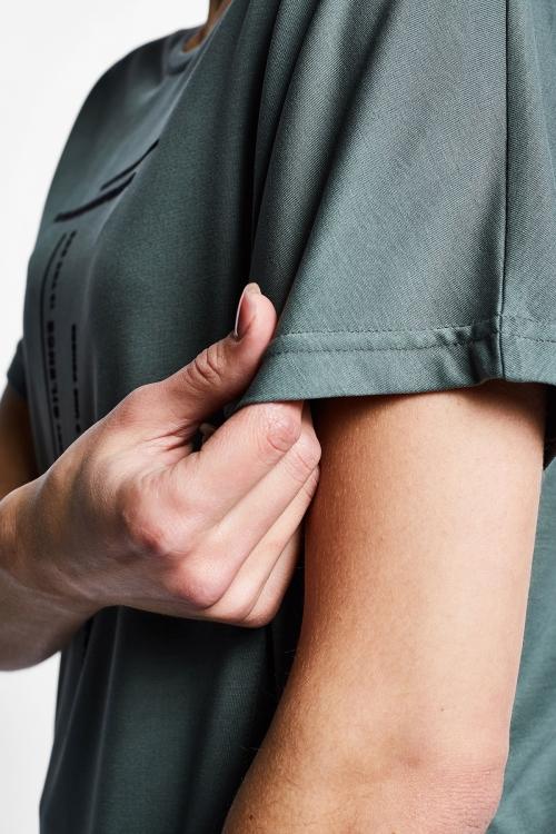 Yeşil Kadın Kısa Kollu T-Shirt 21B-2016