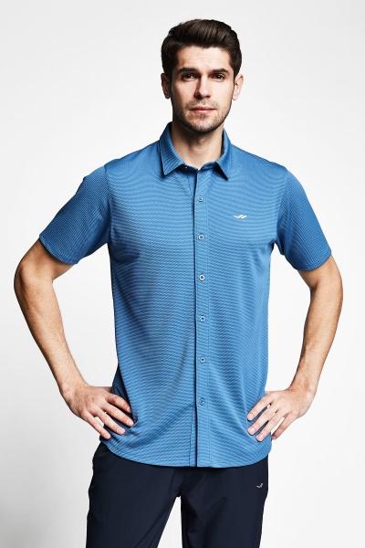 21S-1207-21B Men Shirt Blue