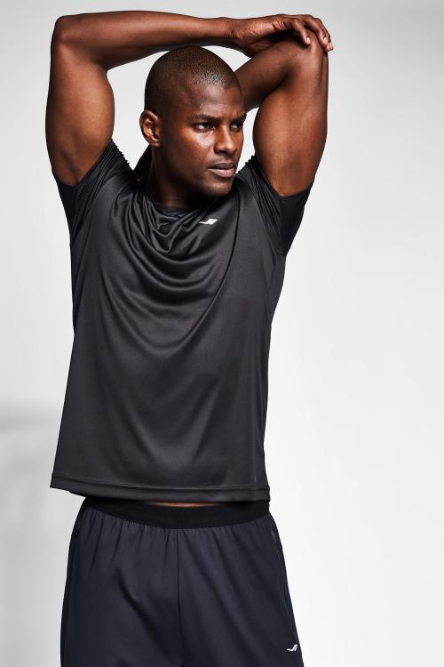 Siyah Erkek T-Shirt 21S-1220-21B