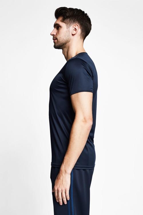 Koyu Lacivert Erkek Kısa Kollu T-Shirt 21S-1220-21B