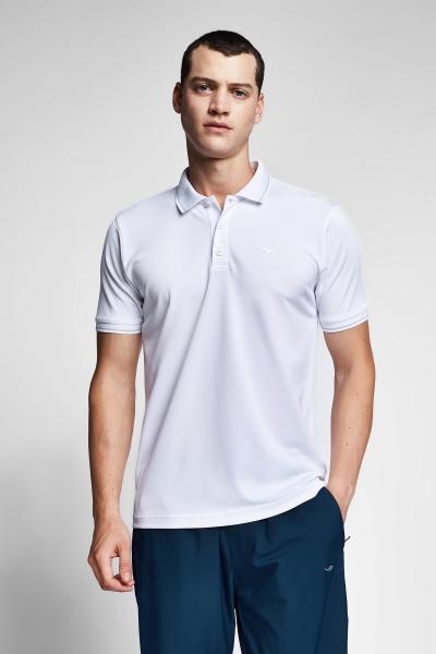 Beyaz Erkek Polo Yaka T-Shirt 21S-1299-21B