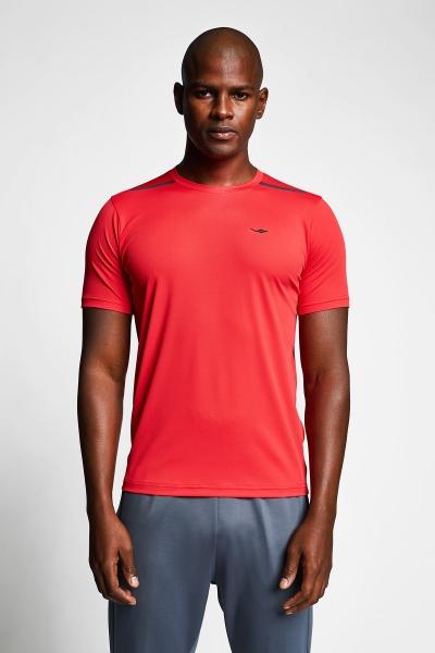 Kırmızı Erkek Kısa Kollu T-Shirt 21B-1004