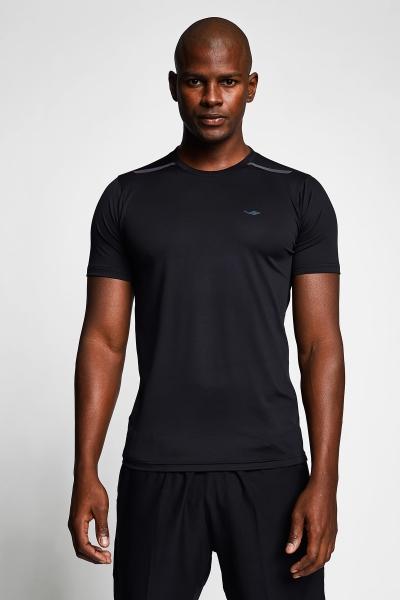 Siyah Erkek Kısa Kollu T-Shirt 21B-1004