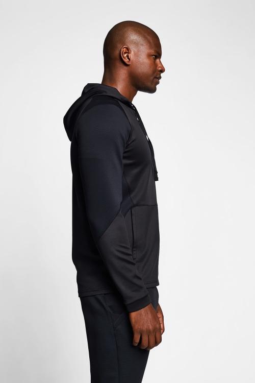 Siyah Erkek Fermuarlı Kapüşonlu Üst 21B-1008