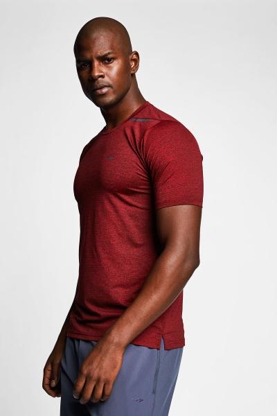 Kırmızı Erkek Kısa Kollu T-Shirt 21B-1009