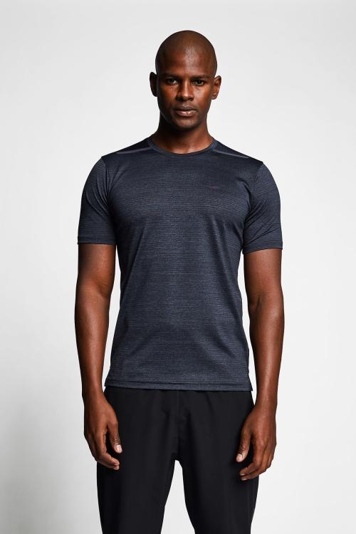 Siyah Erkek Kısa Kollu T-Shirt 21B-1009