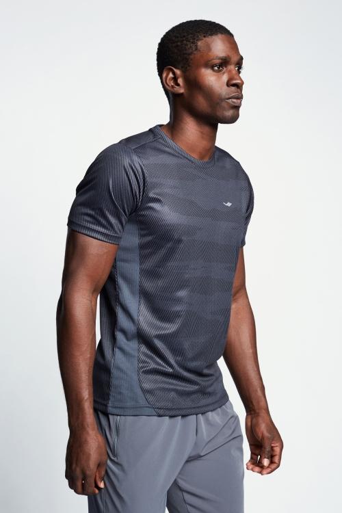 Antrasit Erkek Kısa Kollu T-Shirt 21B-1023
