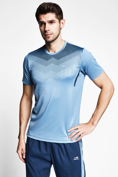 21B-1032 Men Short Sleeve TShirt Blue