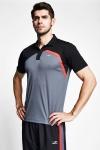 Füme Siyah Erkek Kısa Kollu Polo Yaka T-Shirt 21B-1033