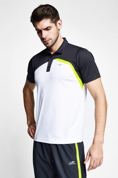 21B-1033 Men T-Shirt White Grey