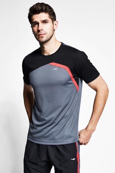 Füme Siyah Erkek Kısa Kollu T-Shirt 21B-1034