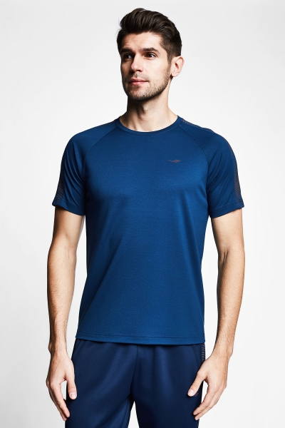 Lacivert Erkek Kısa Kollu T-Shirt 21B-1121