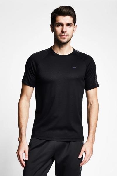Siyah Erkek Kısa Kollu T-Shirt 21B-1121