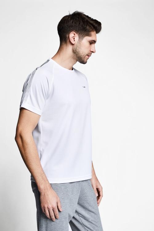 Beyaz Erkek Kısa Kollu T-Shirt 21B-1139