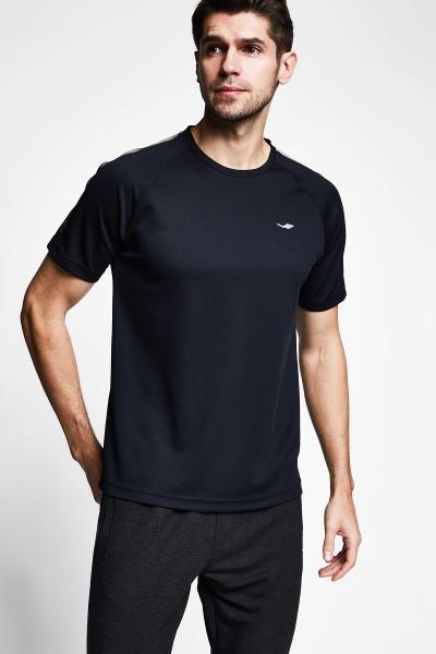 Siyah Erkek Kısa Kollu T-Shirt 21B-1139