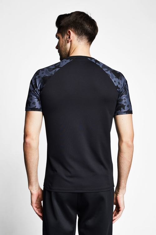 Siyah Erkek Kısa Kollu T-Shirt 21B-1156