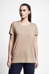 21S-2210-21N Women T-Shirt Caramel