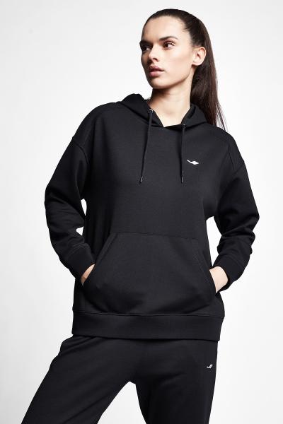 Siyah Kadın Kapüşonlu Sweatshirt 21S-2211-21N