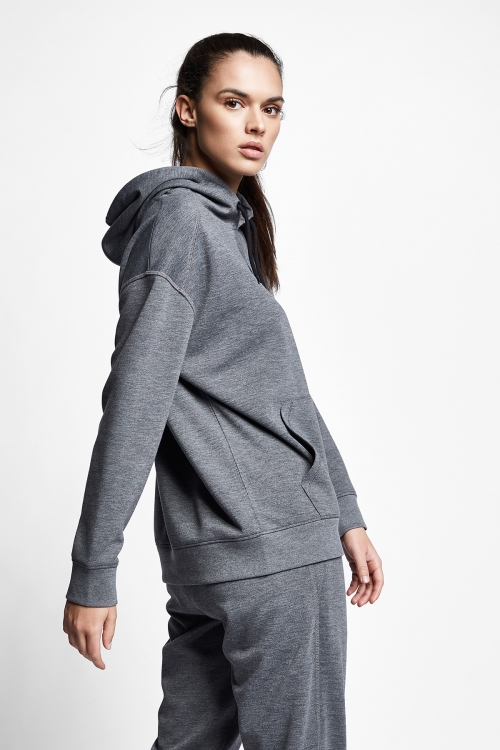 Koyu Grimelanj Kadın Kapüşonlu Sweatshirt 21S-2211-21N