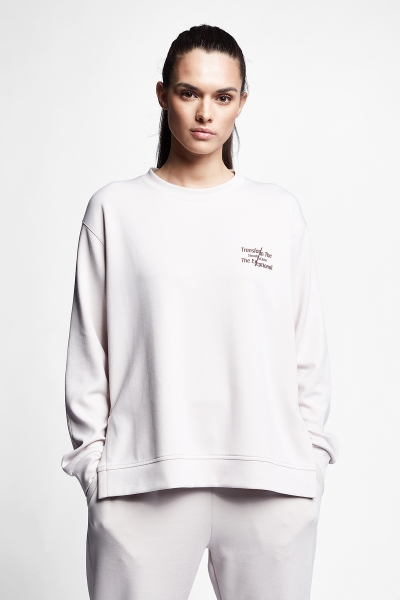 21N-2105 Women Sweatshirt Ivory