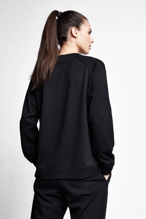 Siyah Kadın Sweatshirt 21N-2105