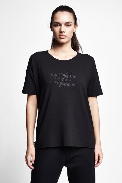 21N-2107 Women T-Shirt Black