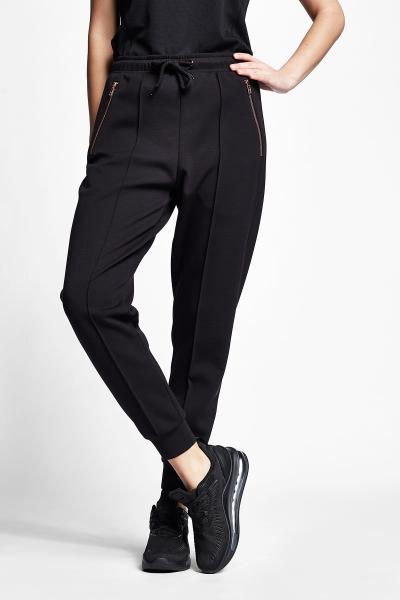 21N-2127 Women Track Pants Black