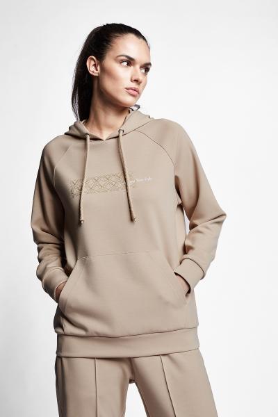 21N-2130 Women Sweatshirt Caramel