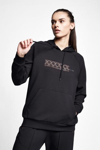 21N-2130 Women Sweatshirt Black