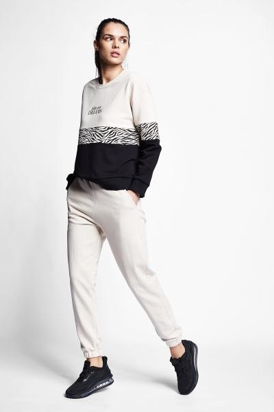 21N-2142 Women Track Pants Ivory