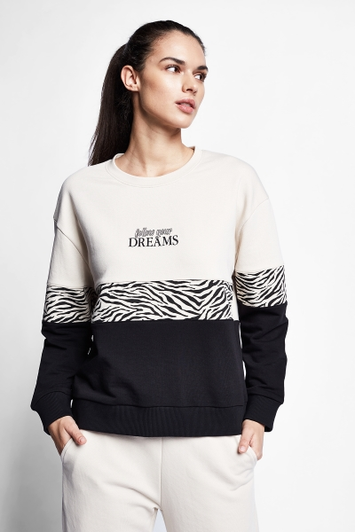 21N-2143 Women Sweatshirt Ivory