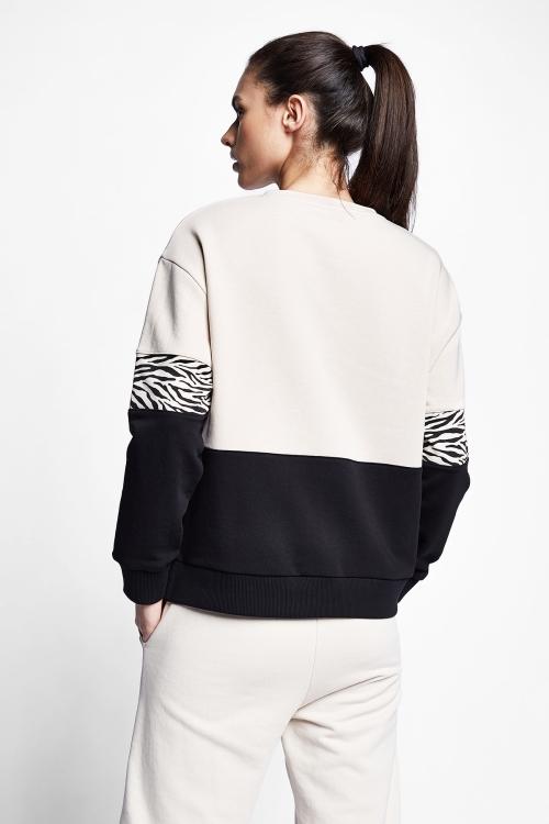 Fildişi Kadın Sweatshirt 21N-2143