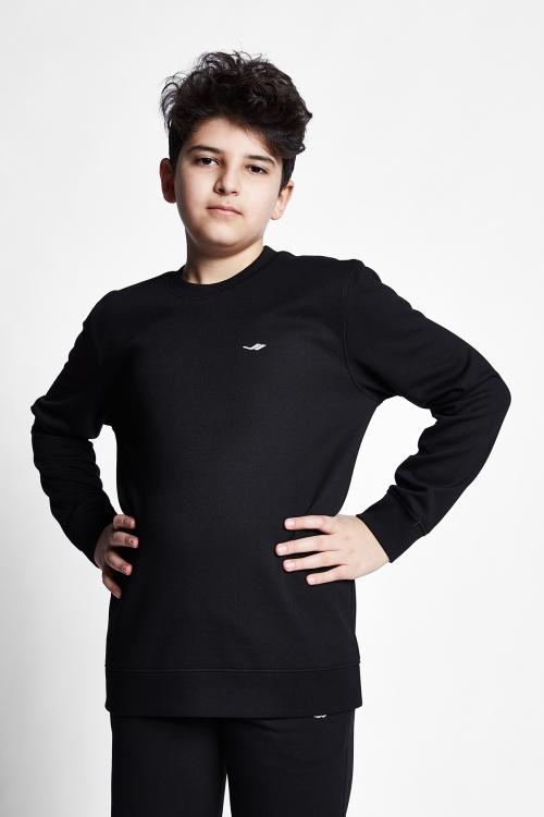 Siyah Çocuk Sweatshirt 21S-3228-21N