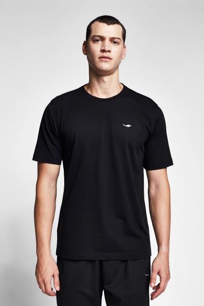Siyah Erkek Kısa Kollu T-Shirt 21S-1202-21N