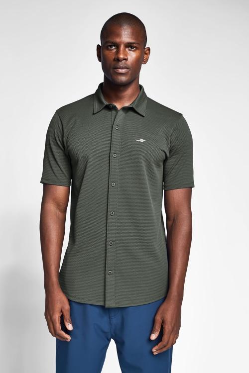 Haki Erkek Kısa Kollu Gömlek 21S-1207-21N