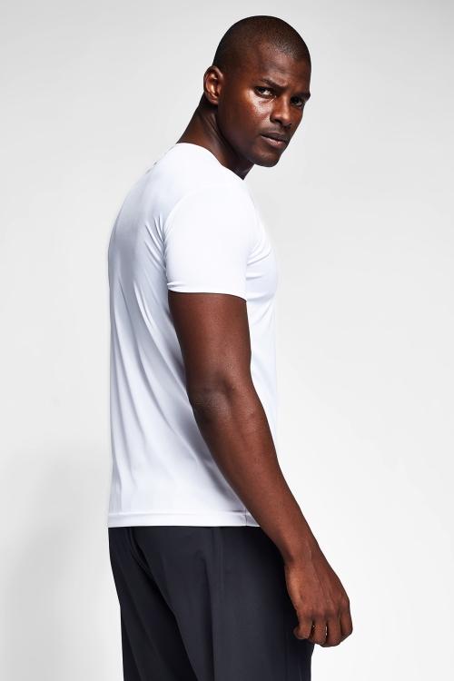 Beyaz Erkek Kısa Kollu T-Shirt 21S-1220-21N