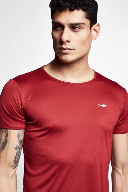 Bordo Erkek Kısa Kollu T-Shirt 21S-1220-21N