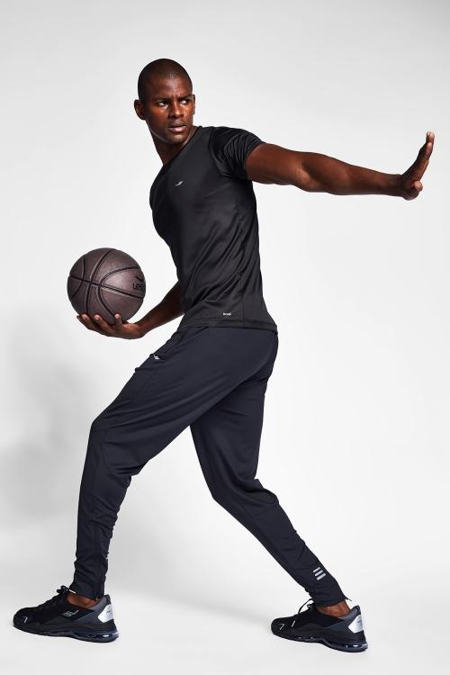Siyah Erkek Kısa Kollu T-Shirt 21S-1220-21N