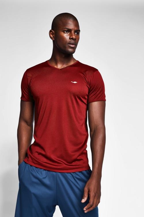 Bordo Erkek Kısa Kollu T-Shirt 21S-1221-21N