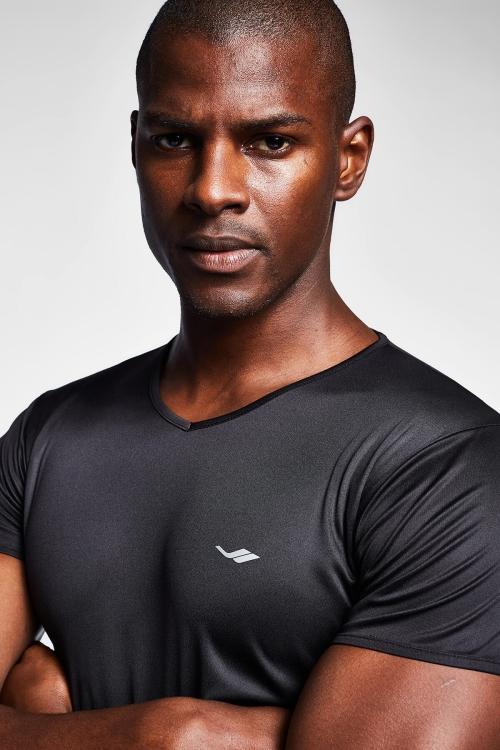 Siyah Erkek Kısa Kollu T-Shirt 21S-1221-21N