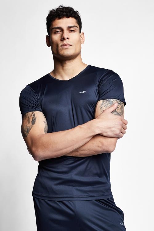 Lacivert Erkek Kısa Kollu T-Shirt 21S-1221-21N