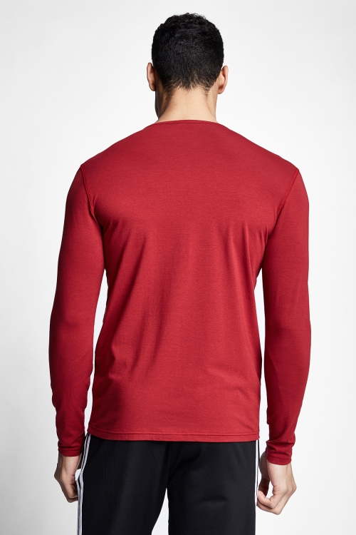 Bordo Erkek Uzun Kollu T-shirt 21S-1236-21N