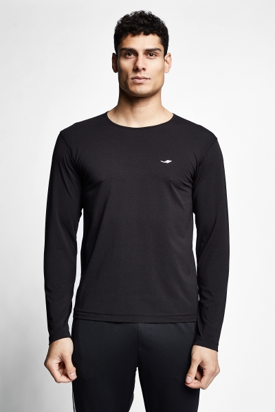 21S-1236-21N Men T-shirt Black