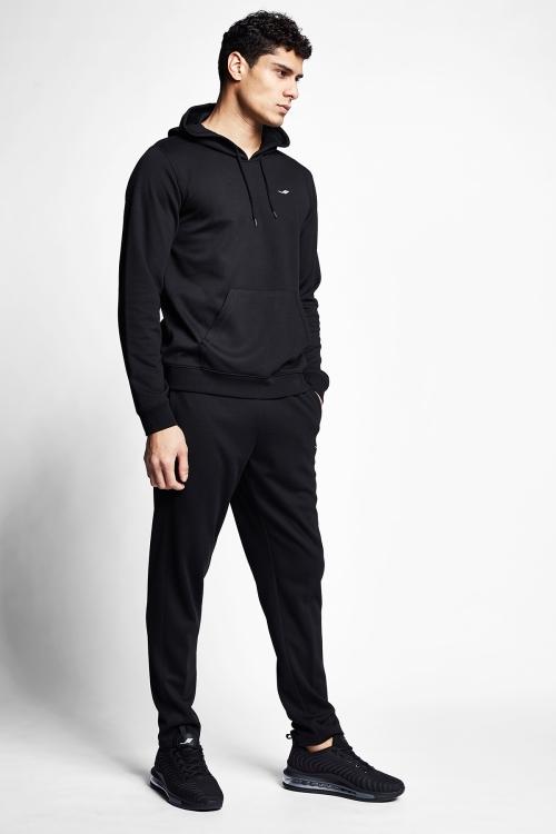 Siyah Erkek Kapüşonlu Sweatshirt 21S-1239-21N