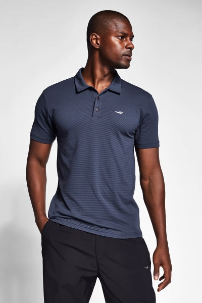 21S-1275-21N Men Polo T-Shirt Anthracite