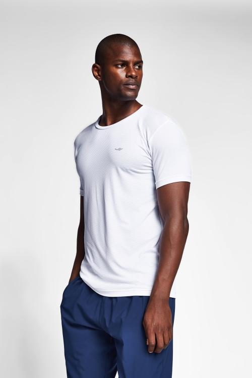 Beyaz Erkek Kısa Kollu T-Shirt 21S-1294-21N